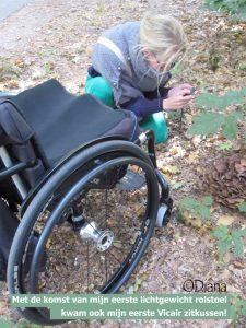 gebruikersverhaal Vicair rolstoelkussen Diana de Vos
