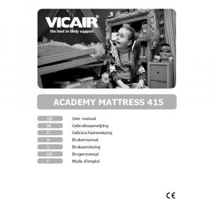 antidecubitus air mattress Vicair mattress 415