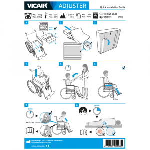 wheelchair cushion Vicair Adjuster quick installation guide