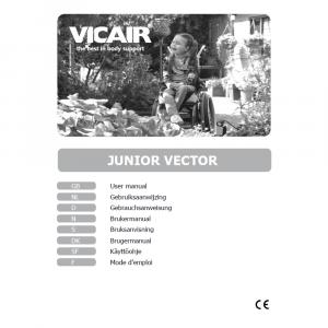 wheelchair cushion children Vicair Junior Vector manual