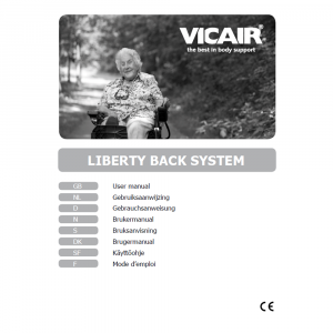 wheelchair back cushion Vicair Liberty manual