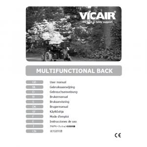 wheelchair back cushion Vicair Multifunctional