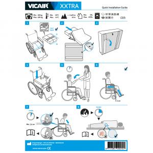 wheelchair cushion bariatric Vicair XXtra quick installation guide