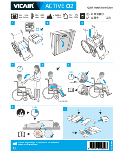 Quick Installation Guide wheelchair cushion Vicair Active O2