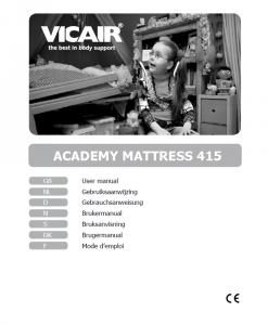 Vicair ARM - Antidecubitus Air Mattress manual