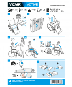 Quick Installation Guide wheelchair cushion Vicair Active