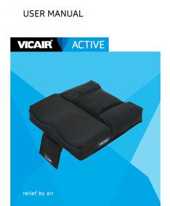 User manual wheelchair cushion Vicair Active