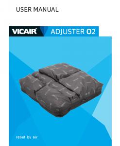 Vicair Adjuster O2 wheelchair cushion manual