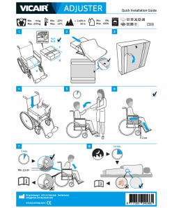 Quick Installation Guide wheelchair cushion Vicair Adjuster