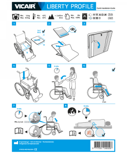 Vicair Liberty Profile Wheelchair cushion quick installation guide