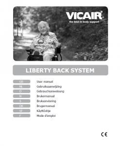 Vicair Liberty Back Wheelchair Back cushion manual