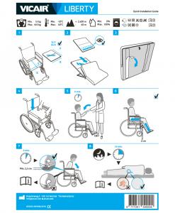 Wheelchair cushion Vicair Liberty Quick Installation Guide