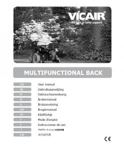 Vicair Multifunctional Wheelchair Back Cushion Manual