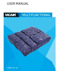 Vicair Multifunctional Wheelchair Cushion Manual