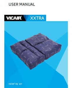 Vicair XXtra Bariatric Wheelchair Cushion manual