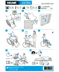 Vicair XXtra Bariatric Wheelchair Cushion Quick Installation Guide