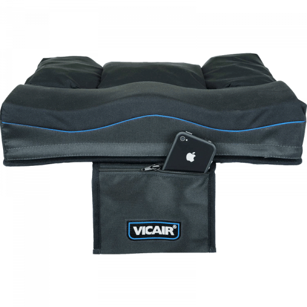 Wheelchair cushion Vicair Active storage pouch with phone