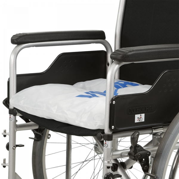 Wheelchair cushion Vicair Liberty on wheelchair without cover incl side guards