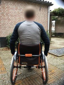 Clinical Case Vicair in wheelchair Back side