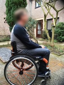 Clinical Case Vicair in wheelchair side