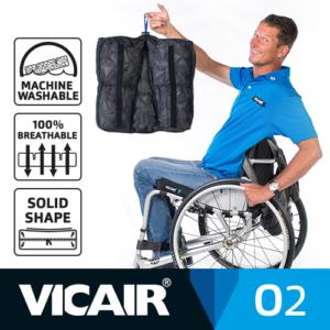 Vicair O2 wheelchair cushion machine washable