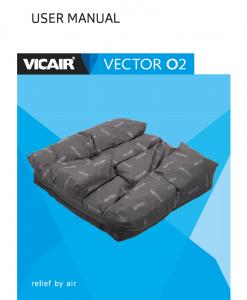 Vicair Vector O2 wheelchair cushion user manual