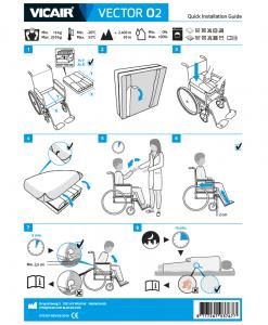 Vicair Vector O2 wheelchair cushion quick installation guide