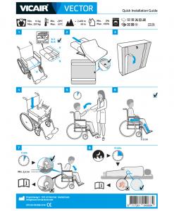 Vicair Vector wheelchair cushion quick installation guide
