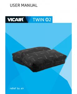 Vicair Twin O2 wheelchair cushion Manual