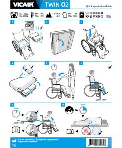 Vicair Twin O2 wheelchair cushion quick installation guide