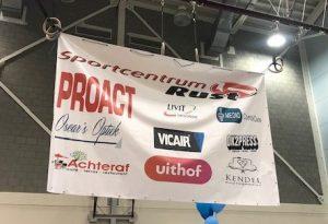 A judotoernooi Bob Lausberg sponsordoek Vicair