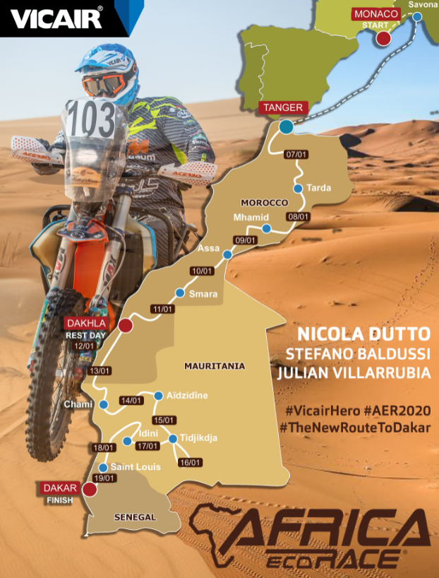 Nicola Dutto AER VicairHero Route 2020