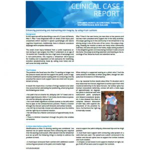 Vicair Clinical Case Report - Enhancing positioning and maintaining skin integrity by using Vicair cushions