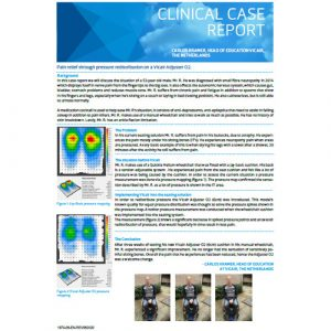 Vicair Clinical Case Report - Pain relief through pressure redistribution on a Vicair Adjuster O2