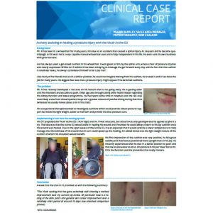 Vicair Clinical Case Report - Actively assisting in healing a pressure injury with the Vicair Active O2