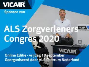 Vicair sponsor van ALS Zorgverleners Congres 2020