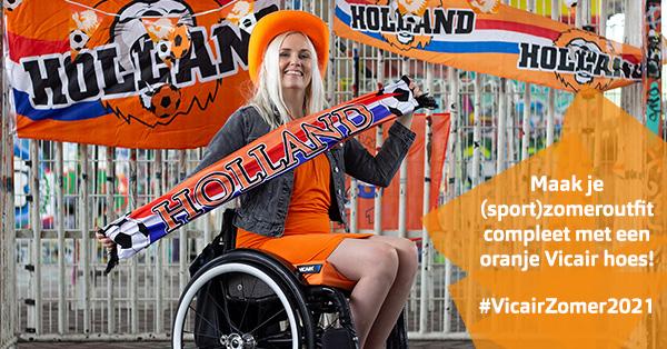 Vicair Zomer 2021 - OZC - oranje rolstoelkussenhoes