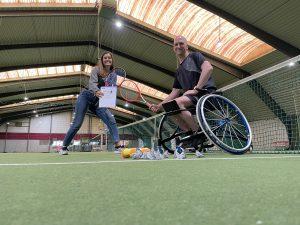 Vicair Rolstoeltennis Melvin Smid Sponsoring rolstoelkussen